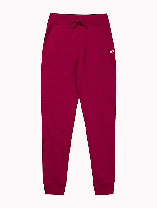 TOMMY JEANS Tommy Classics Monogram Joggers - RUMBA RED - TOMMY JEANS SALE UK - detail image 1