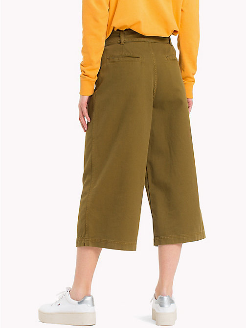 TOMMY JEANS Cropped Bow Pants - MILITARY OLIVE - TOMMY JEANS Trousers & Skirts - detail image 1