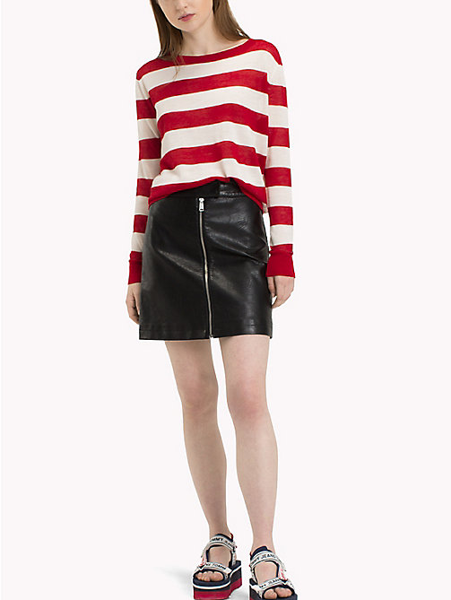 TOMMY JEANS Nautical Jumper - SNOW WHITE  / SAMBA RED - TOMMY JEANS Knitwear - main image