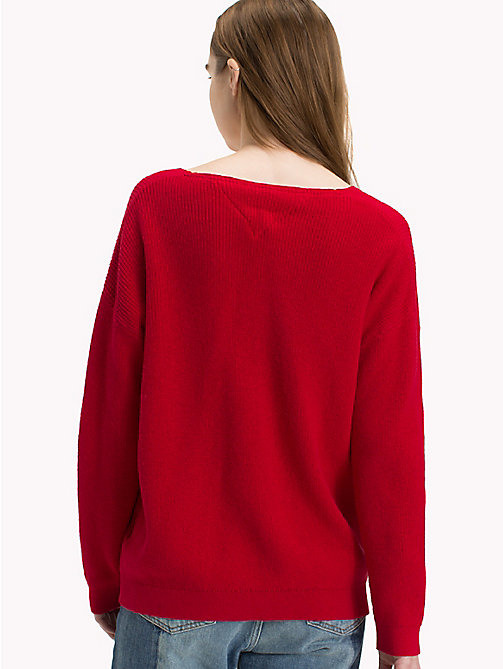 TOMMY JEANS Textured V-Neck Sweater - SAMBA - TOMMY JEANS Knitwear - detail image 1