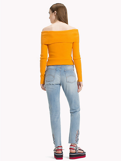 TOMMY JEANS Off-The-Shoulder Sweater - BUTTERSCOTCH - TOMMY JEANS Knitwear - detail image 1