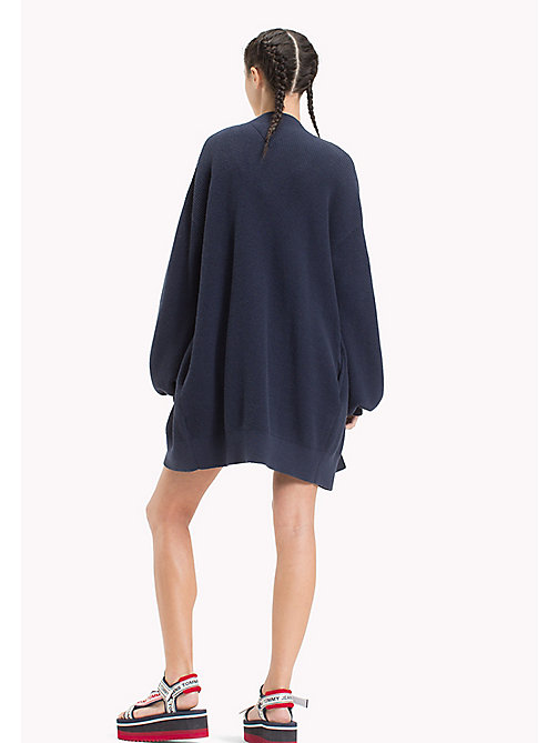 TOMMY JEANS Bell Sleeve Cardigan - BLACK IRIS - TOMMY JEANS Clothing - detail image 1
