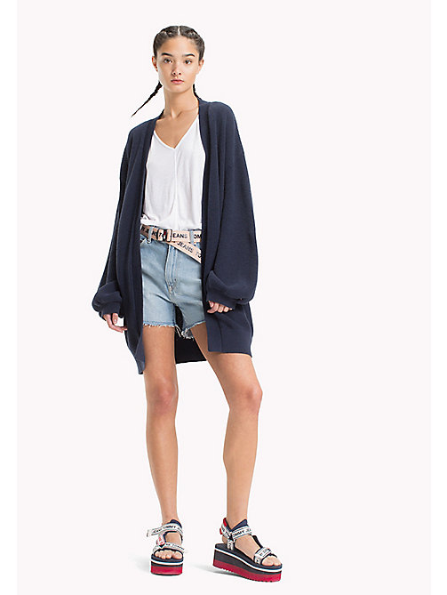 TOMMY JEANS Bell Sleeve Cardigan - BLACK IRIS - TOMMY JEANS Clothing - main image