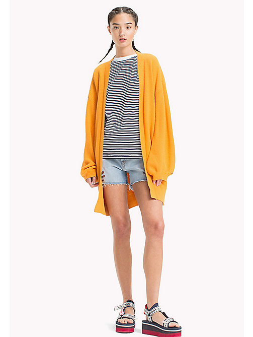 TOMMY JEANS Bell Sleeve Cardigan - BUTTERSCOTCH - TOMMY JEANS Festival Season - main image