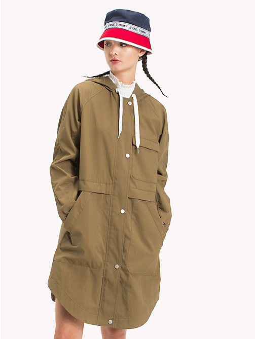 TOMMY JEANS Hooded Parka - MILITARY OLIVE -  Clothing - main image