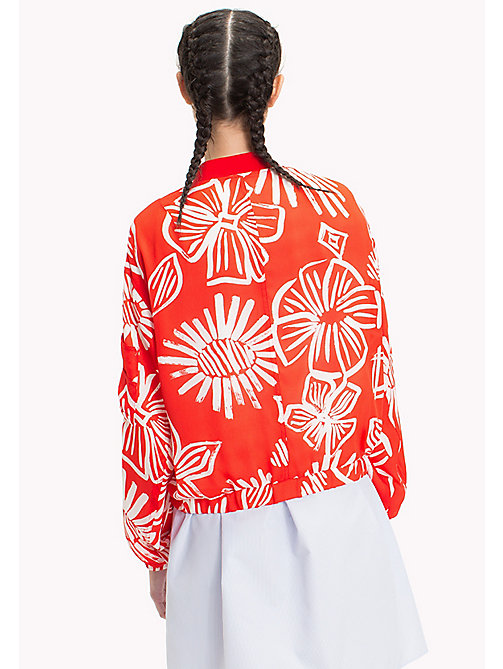 TOMMY JEANS Floral Print Bomber Jacket - NAIVE FLOWER PRINT/POPPY RED - TOMMY JEANS Vacation Style - detail image 1