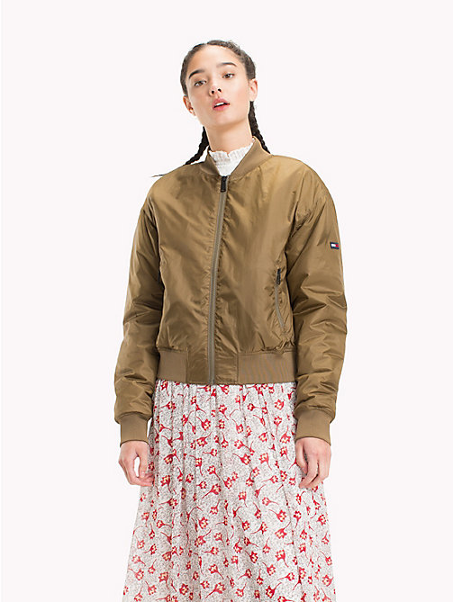 TOMMY JEANS Sustainable Bomber Jacket - MILITARY OLIVE - TOMMY JEANS Test 11 - main image