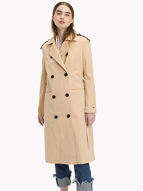 TOMMY JEANS Tie Detail Trench Coat - WARM SAND - TOMMY JEANS VACATION - main image