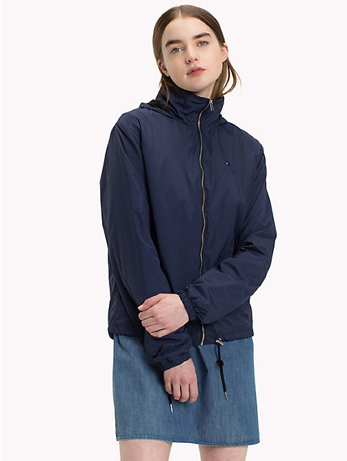 TOMMY JEANS Short Hooded Jacket - BLACK IRIS - TOMMY JEANS Coats & Jackets - main image
