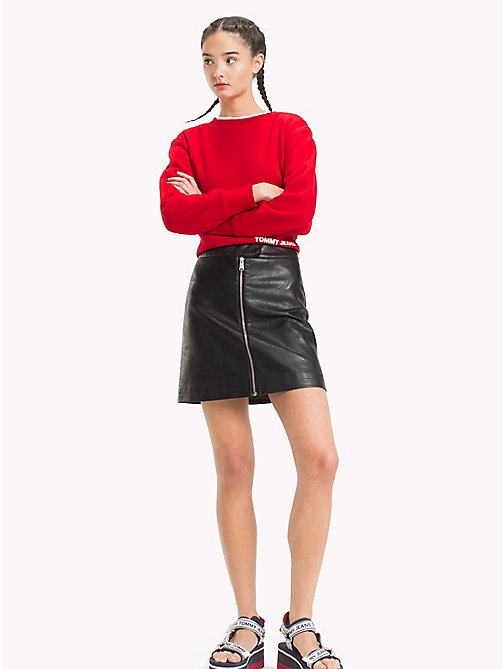TOMMY JEANS Zip-Front Skirt - TOMMY BLACK - TOMMY JEANS Dresses & Skirts - main image