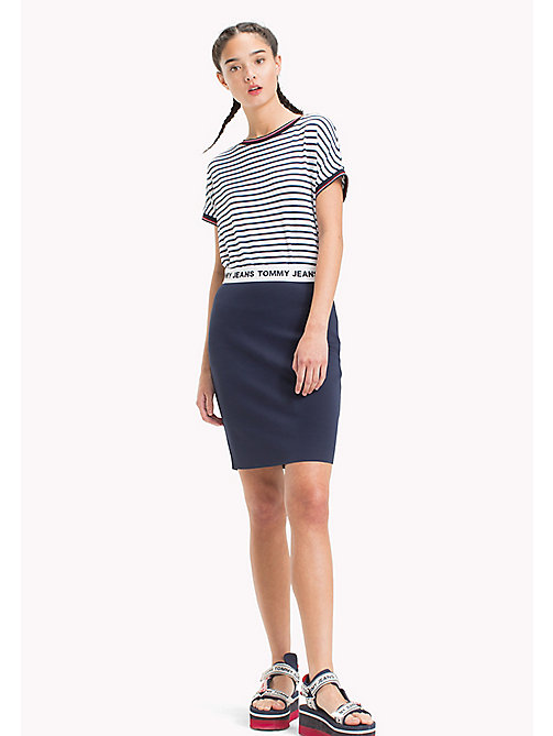 TOMMY JEANS Fitted Logo Pencil Skirt - BLACK IRIS - TOMMY JEANS Trousers & Skirts - main image