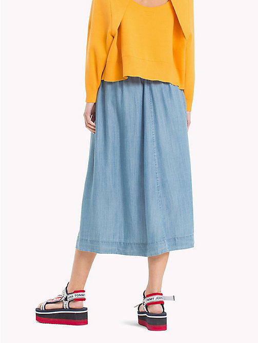 TOMMY JEANS Button Closure Skirt - LT INDIGO - TOMMY JEANS Trousers & Skirts - detail image 1