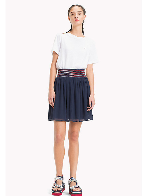 TOMMY JEANS Lightweight Summer Skirt - BLACK IRIS - TOMMY JEANS Vacation Style - main image