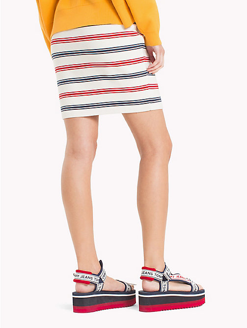 TOMMY JEANS Stripe Miniskirt - SNOW WHITE MULTI - TOMMY JEANS Trousers & Skirts - detail image 1