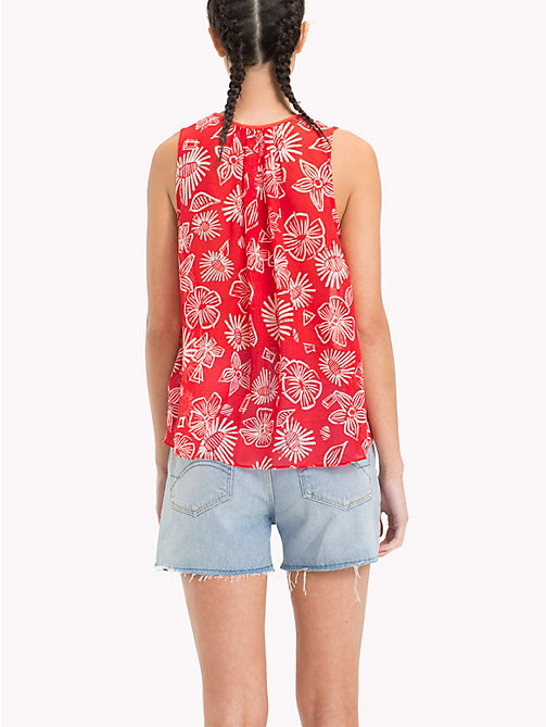 TOMMY JEANS Floral Print Top - NAIVE FLOWER PRINT/POPPY RED - TOMMY JEANS Festivals Season - detail image 1
