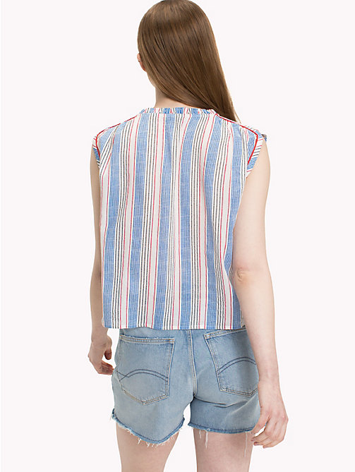 TOMMY JEANS Multicolour Stripe Top - BLITHE / POPPY RED MULTI - TOMMY JEANS Festival Season - detail image 1