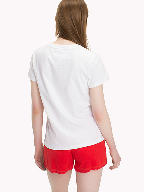 TOMMY JEANS Tommy Jeans Logo T-Shirt - BRIGHT WHITE - TOMMY JEANS Tops - detail image 1