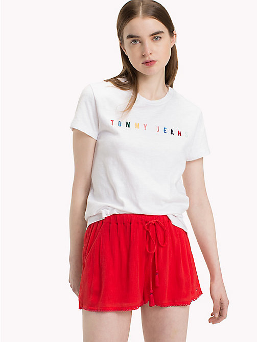 TOMMY JEANS Tommy Jeans Logo T-Shirt - BRIGHT WHITE - TOMMY JEANS Tops - main image