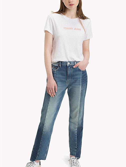 TOMMY JEANS T-Shirt mit Rundhalsausschnitt - BRIGHT WHITE - TOMMY JEANS Tops - main image