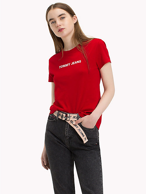 TOMMY JEANS Crew Neck T-Shirt - SAMBA - TOMMY JEANS Clothing - main image