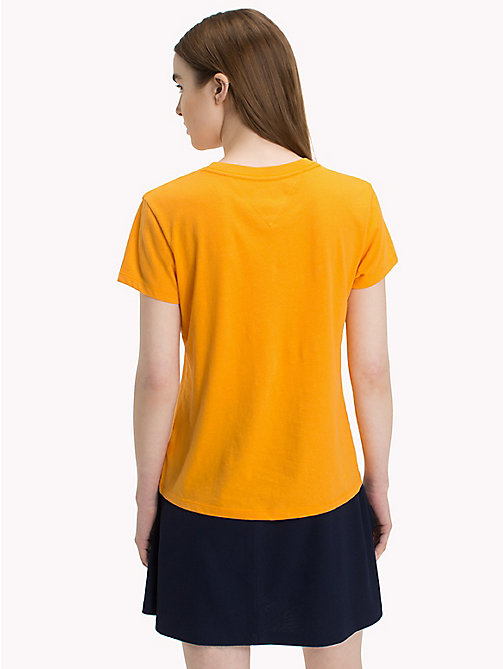TOMMY JEANS Crew Neck T-Shirt - BUTTERSCOTCH - TOMMY JEANS Tops - detail image 1