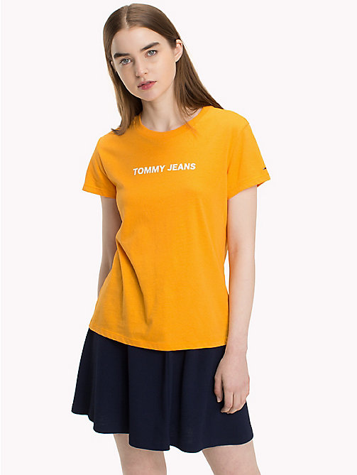 TOMMY JEANS Crew Neck T-Shirt - BUTTERSCOTCH - TOMMY JEANS Tops - main image