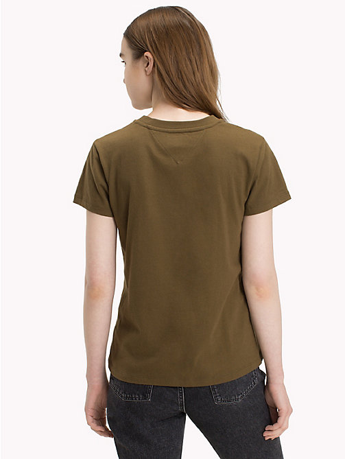 TOMMY JEANS Crew Neck T-Shirt - MILITARY OLIVE - TOMMY JEANS Tops - detail image 1