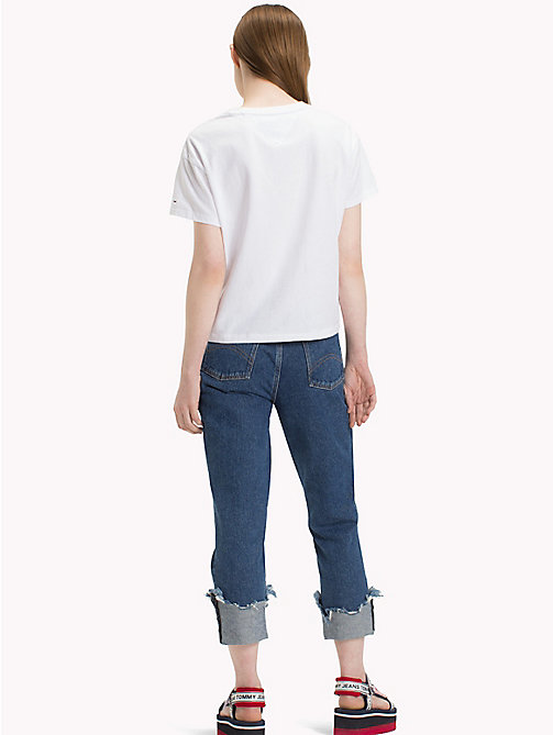 TOMMY JEANS T-Shirt mit Retro-Logo - BRIGHT WHITE - TOMMY JEANS Tops - main image 1