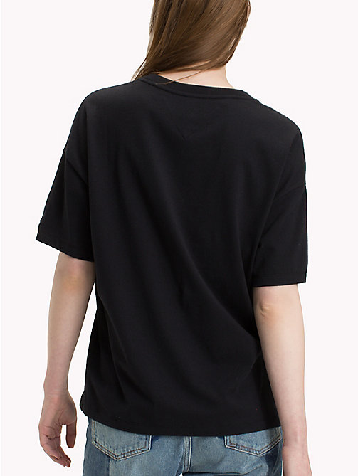 TOMMY JEANS New York Logo T-Shirt - TOMMY BLACK - TOMMY JEANS Clothing - detail image 1