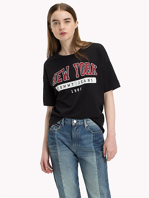 TOMMY JEANS New York Logo T-Shirt - TOMMY BLACK - TOMMY JEANS Clothing - main image