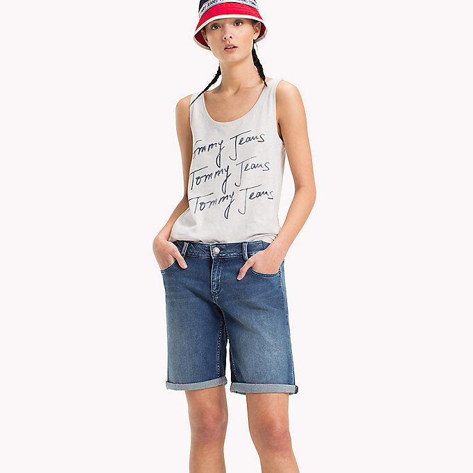 TOMMY JEANS Tommy Jeans Signature Logo Tank - POPPY RED - TOMMY JEANS Women - main image