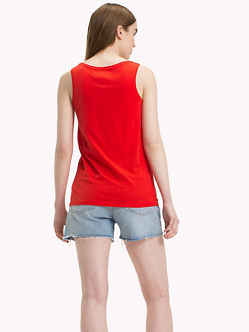TOMMY JEANS Tommy Jeans Signature Logo Tank - POPPY RED - TOMMY JEANS Vacation Style - detail image 1