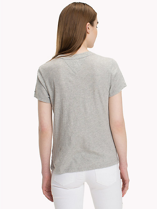 TOMMY JEANS T-Shirt mit Kaktusmuster - LIGHT GREY HTR BC03 - TOMMY JEANS Tops - main image 1