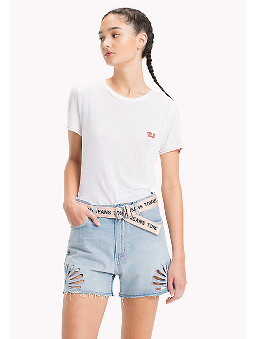 TOMMY JEANS Tommy Jeans Fitted T-Shirt - BRIGHT WHITE - TOMMY JEANS Tops - main image