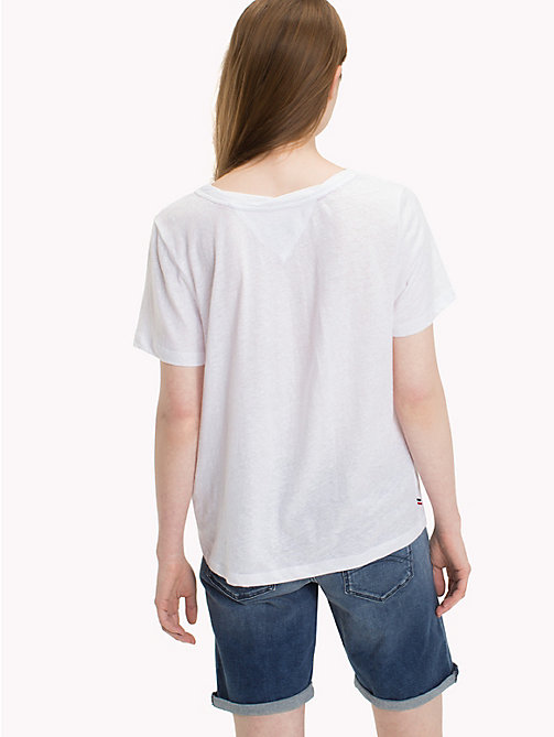 TOMMY JEANS Crew Neck T-Shirt - BRIGHT WHITE - TOMMY JEANS Tops - detail image 1