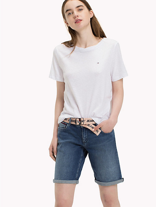 TOMMY JEANS Crew Neck T-Shirt - BRIGHT WHITE - TOMMY JEANS Tops - main image