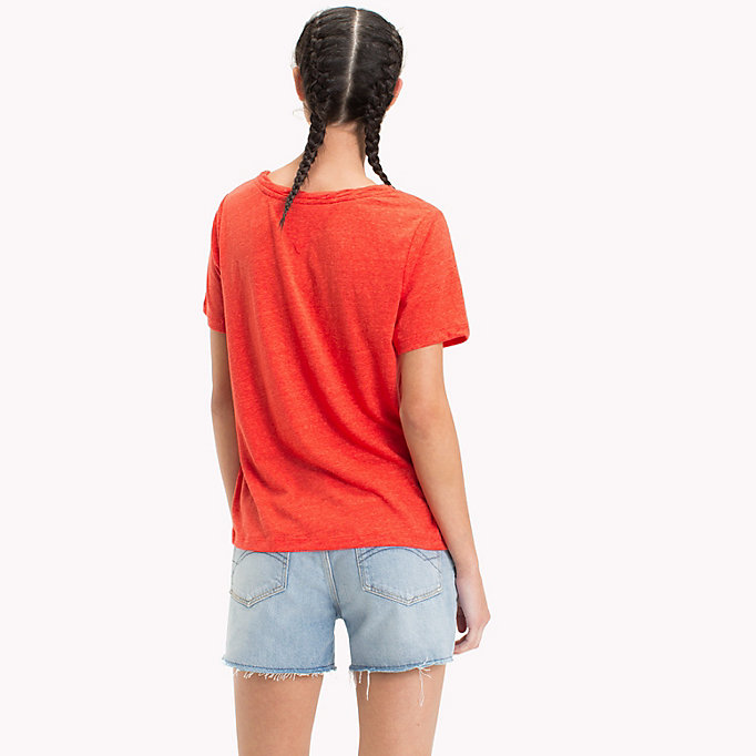 TOMMY JEANS T-shirt girocollo - BUTTERSCOTCH - TOMMY JEANS Donne - dettaglio immagine 1