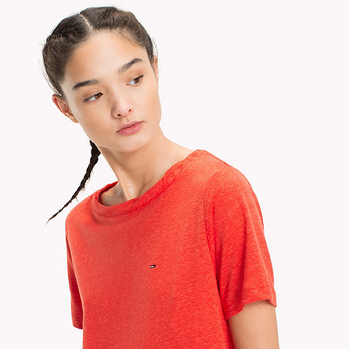 TOMMY JEANS T-shirt girocollo - BUTTERSCOTCH - TOMMY JEANS Donne - dettaglio immagine 2
