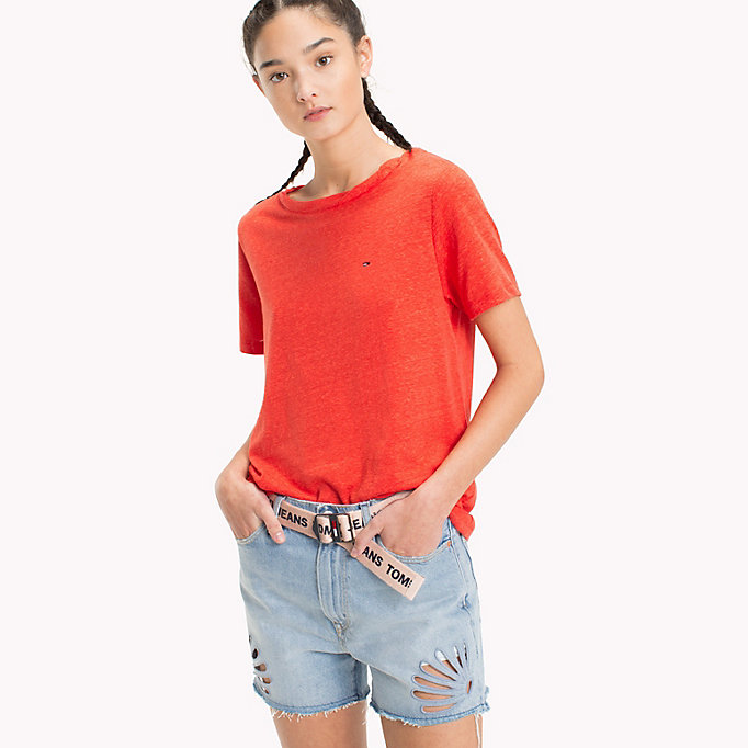 TOMMY JEANS Crew Neck T-Shirt - BUTTERSCOTCH - TOMMY JEANS Women - main image