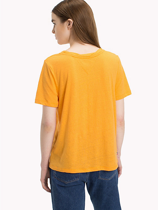 TOMMY JEANS Crew Neck T-Shirt - BUTTERSCOTCH - TOMMY JEANS Vacation Style - detail image 1