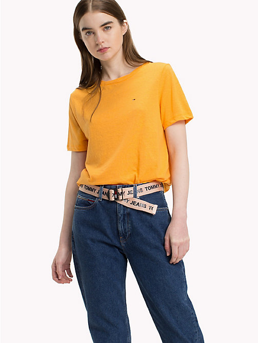 TOMMY JEANS Crew Neck T-Shirt - BUTTERSCOTCH - TOMMY JEANS Vacation Style - main image