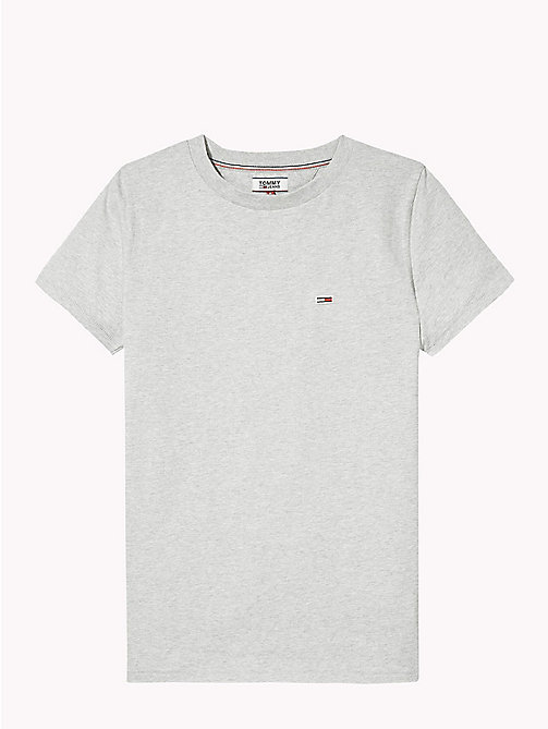 TOMMY JEANS Classic Boyfriend Fit T-Shirt - LT GREY HTR - TOMMY JEANS Test 7 - Women - detail image 1
