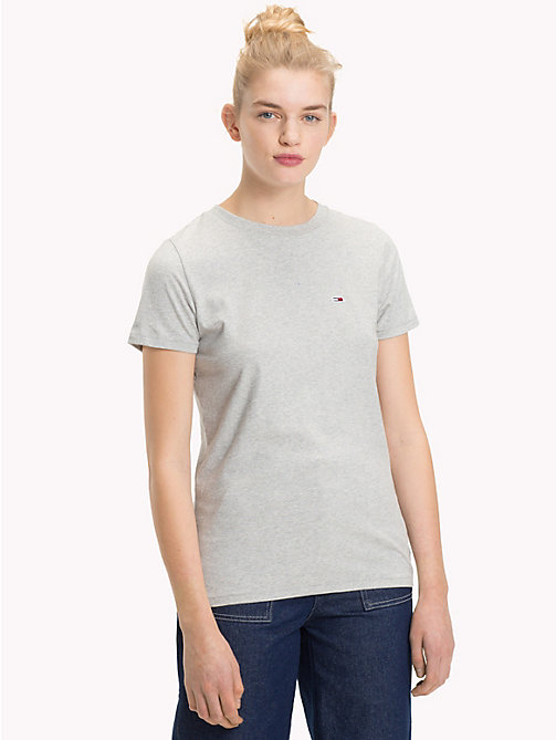 TOMMY JEANS Classic Boyfriend Fit T-Shirt - LT GREY HTR - TOMMY JEANS Test 7 - Women - main image