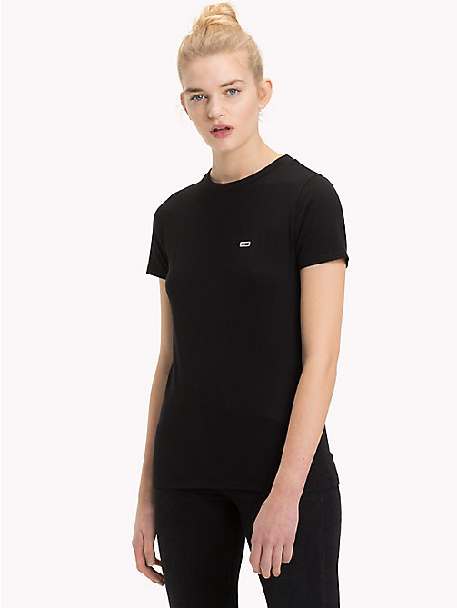 TOMMY JEANS T-shirt boyfriend fit classica - TOMMY BLACK - TOMMY JEANS Tommy Classics - dettaglio immagine 1