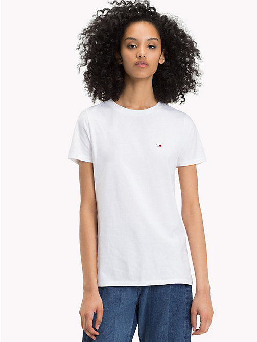 TOMMY JEANS Klassisches Boyfriend Fit T-Shirt - BRIGHT WHITE - TOMMY JEANS Tops - main image