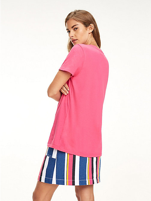 TOMMY JEANS Klassisches Boyfriend Fit T-Shirt - FUCHSIA PURPLE - TOMMY JEANS Tops - main image 1