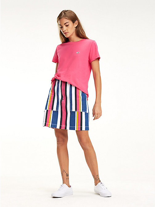 TOMMY JEANS Klassisches Boyfriend Fit T-Shirt - FUCHSIA PURPLE - TOMMY JEANS Tops - main image