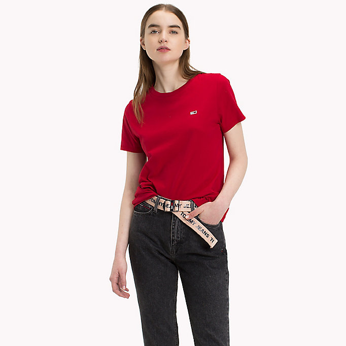 TOMMY JEANS Classic Boyfriend Fit T-Shirt - BLACK IRIS - TOMMY JEANS Women - main image