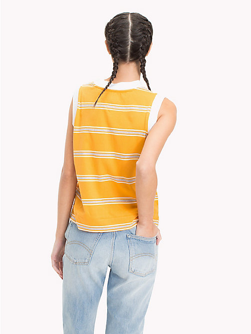 TOMMY JEANS Gestreifte Boxy Fit Weste - BUTTERSCOTCH MULTI - TOMMY JEANS Tops - main image 1