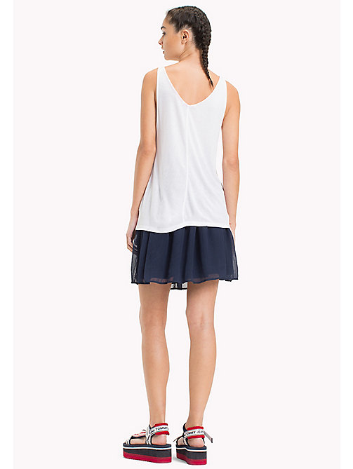 TOMMY JEANS Micro Stripe Tank Top - BRIGHT WHITE - TOMMY JEANS Tops - detail image 1
